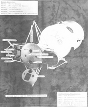 Model of Mission 1a spacecraft in mapping orbit configuration